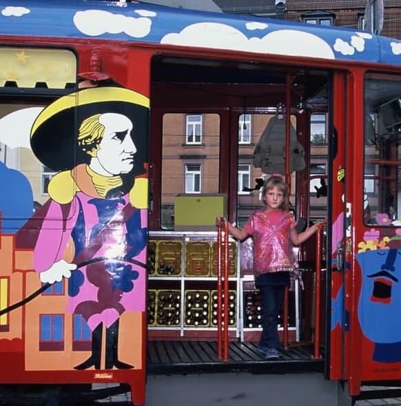 フランクフルトのリンゴ酒電車
