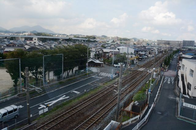 JR日豊本線をオーバークロス