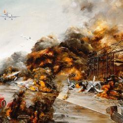 ロシア艦隊の旗艦スワロフめがけ<br />戦艦三笠の主砲が一斉に火を噴く!<br />
