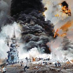 水雷戦隊が出撃し追撃戦に移行!<br />手負いのロシア艦を次々に撃沈する<br />