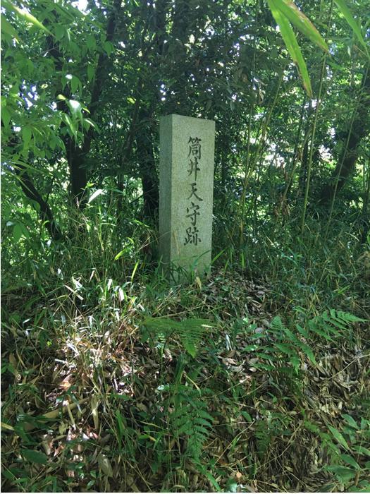 伊賀上野城の筒井氏時代天主跡