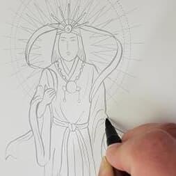 おうち時間に心の安らぎを取り戻す「日本の神様なぞり描き写神帳」