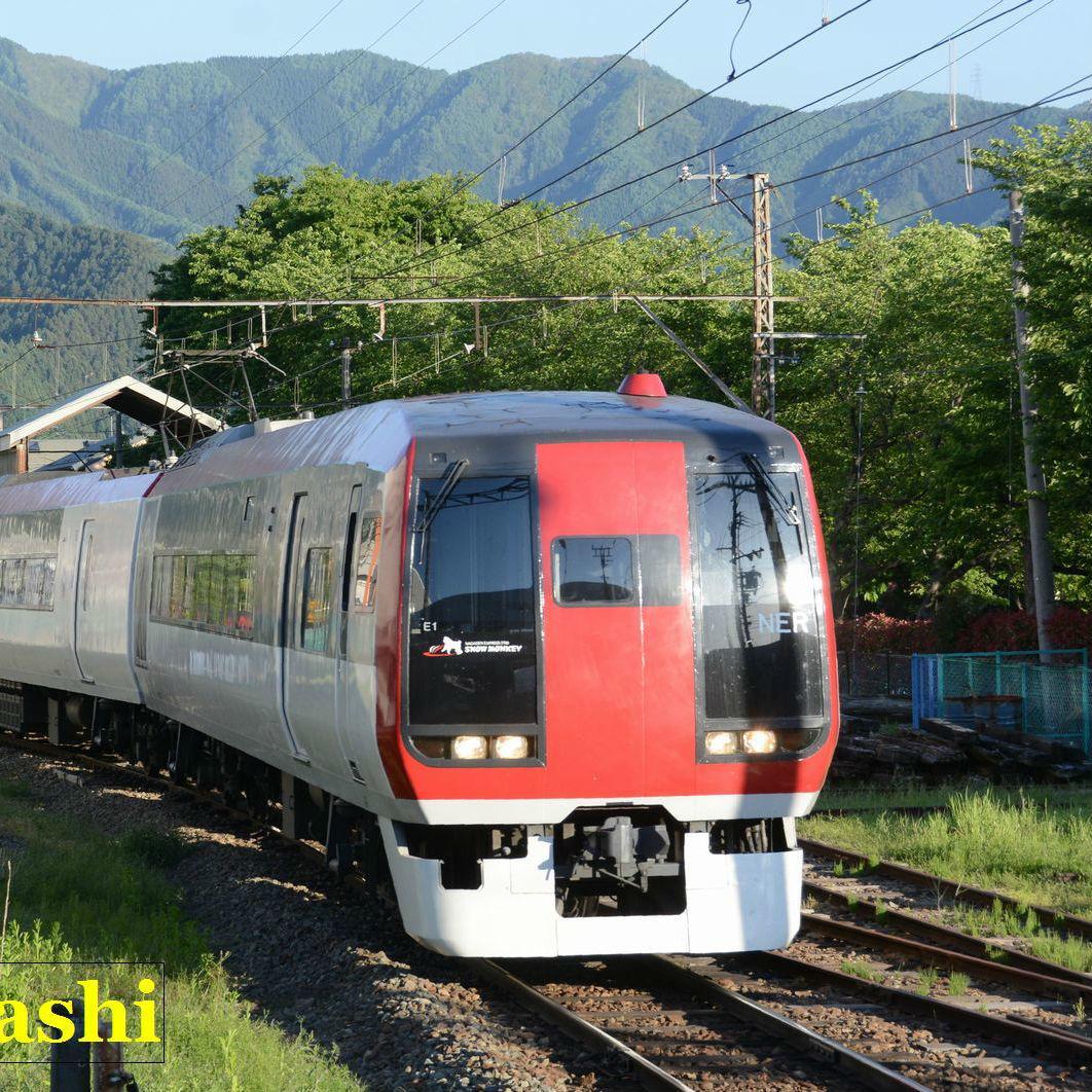 長野電鉄の特急スノーモンキーの旅