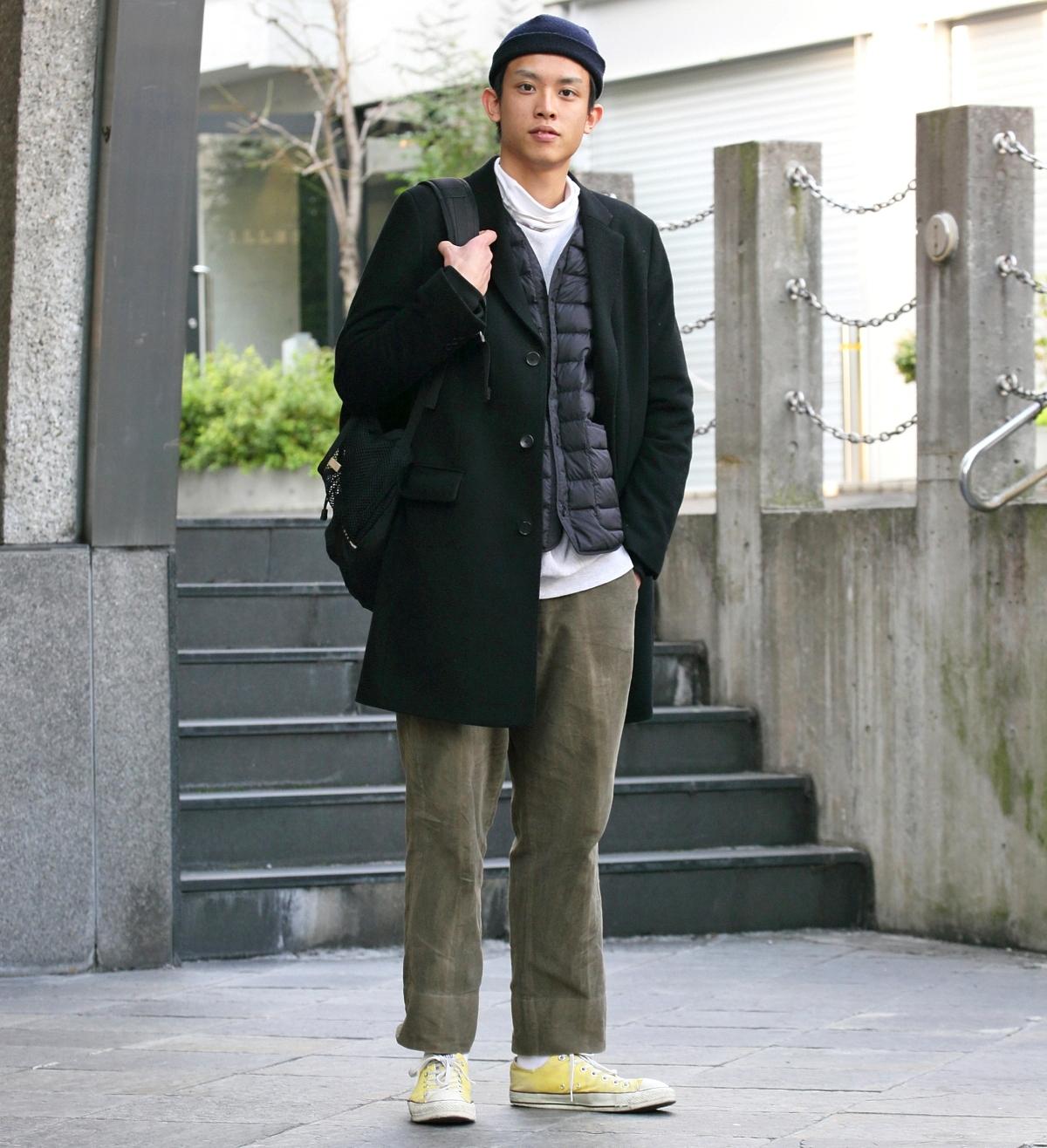 【SNAP JACK】<br />ダークトーンにポップな挿し色が今冬の気分♪<br />井川 勇くん・明治大学