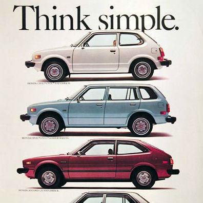アップルより先に展開していた、北米ホンダの「Think」キャンペーン