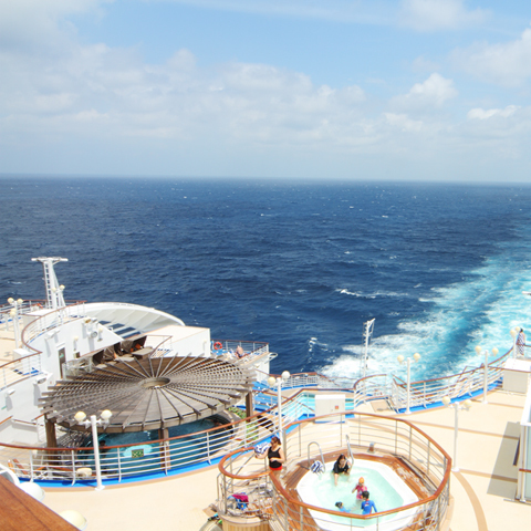 豪華客船で海の大パノラマを独占した!