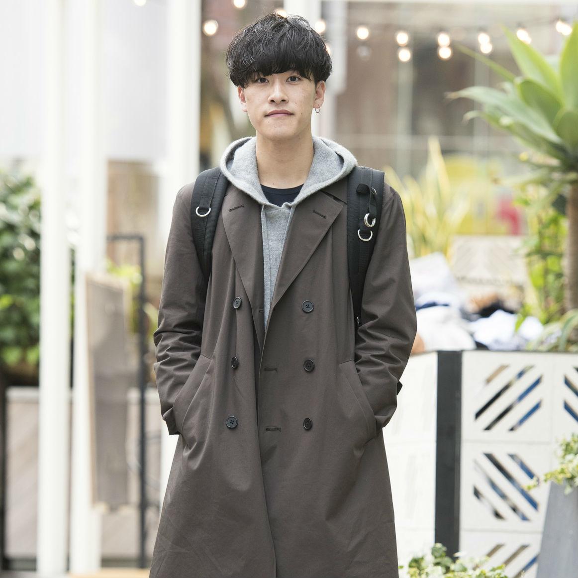 【SNAP JACK】〈ユニクロU〉のコートが今マイブームなのよ 梶原大聖くん・大学生