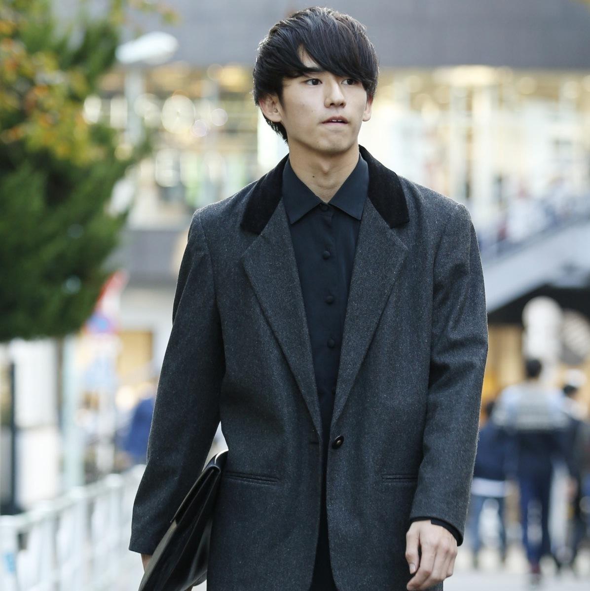 【SNAP JACK】大人っぽくモノトーンにキメるジャケットスタイル!<br />江尻懐平くん・東京理科大学2年生