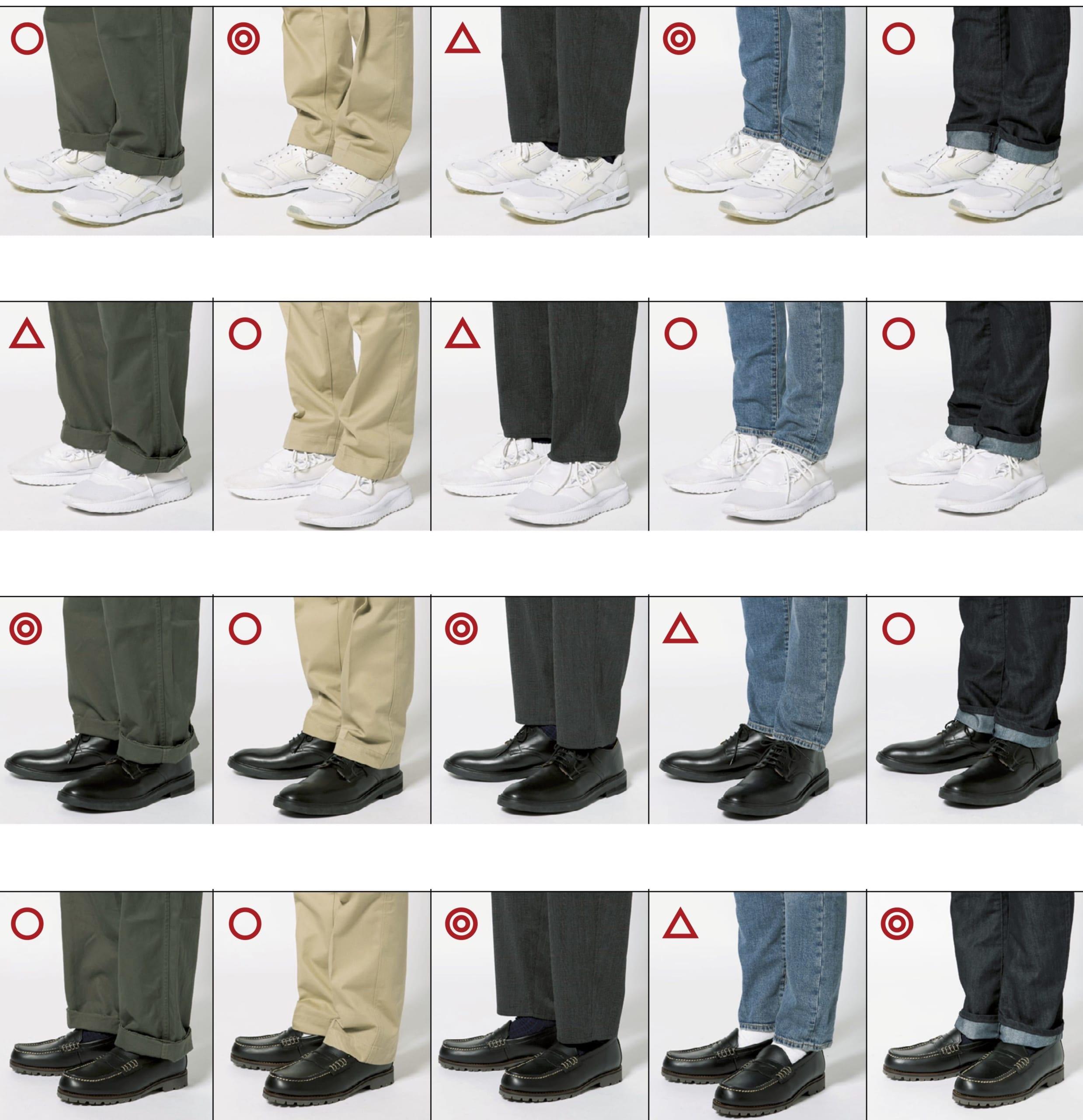このパンツには何の靴が合うの? 編集部が36のパターンから分析してみたら…。