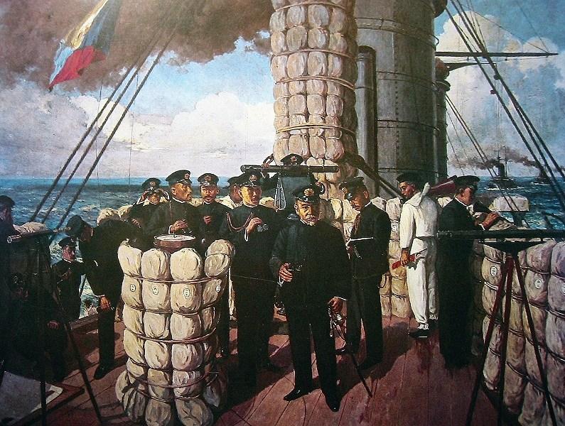 戦艦三笠にZ旗が掲げられる!<br />「皇国ノ興廃、此ノ一戦二アリ」<br />