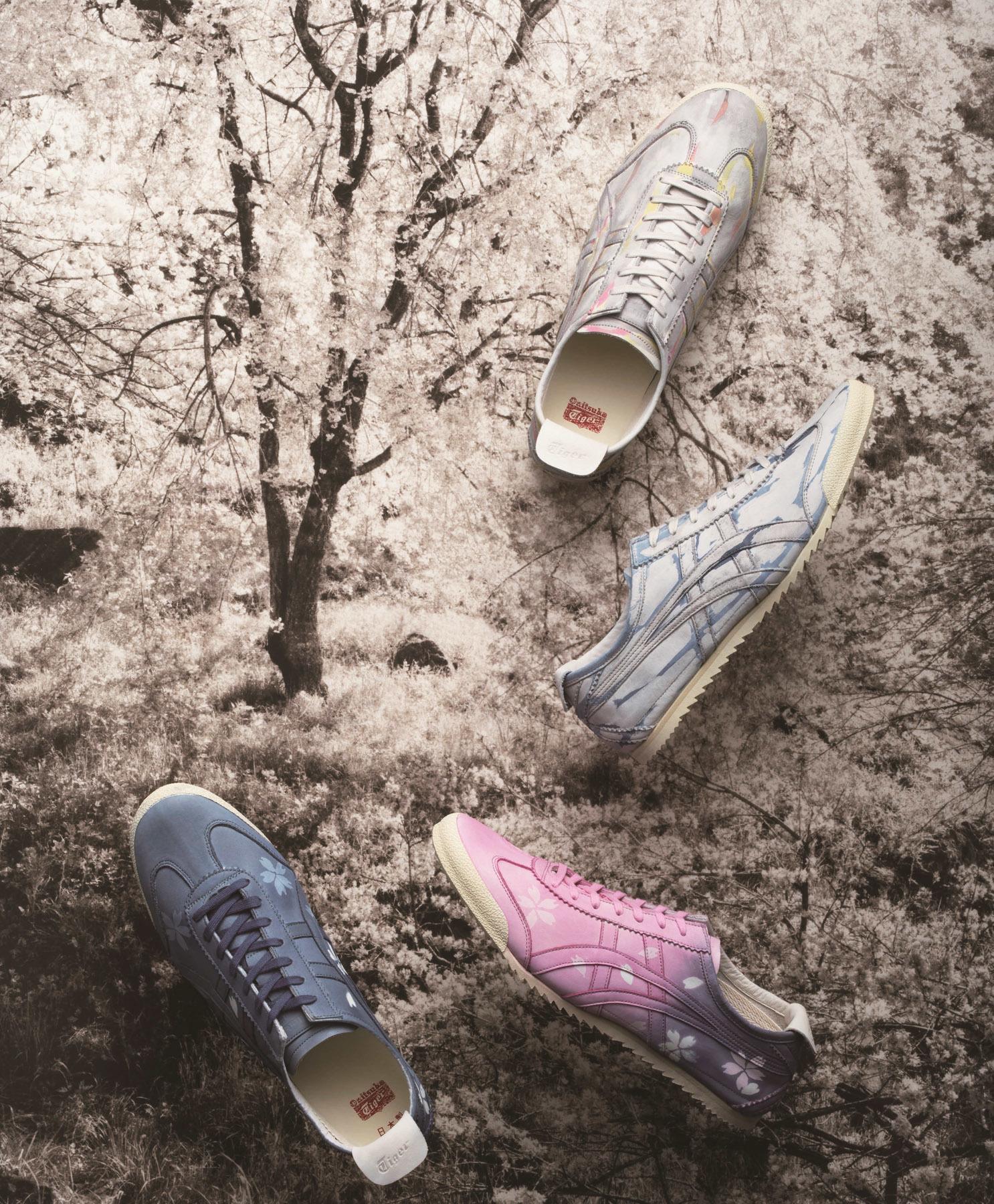 お花見シーズンにピッタリ♪ 友禅染の「桜」柄スニーカー登場