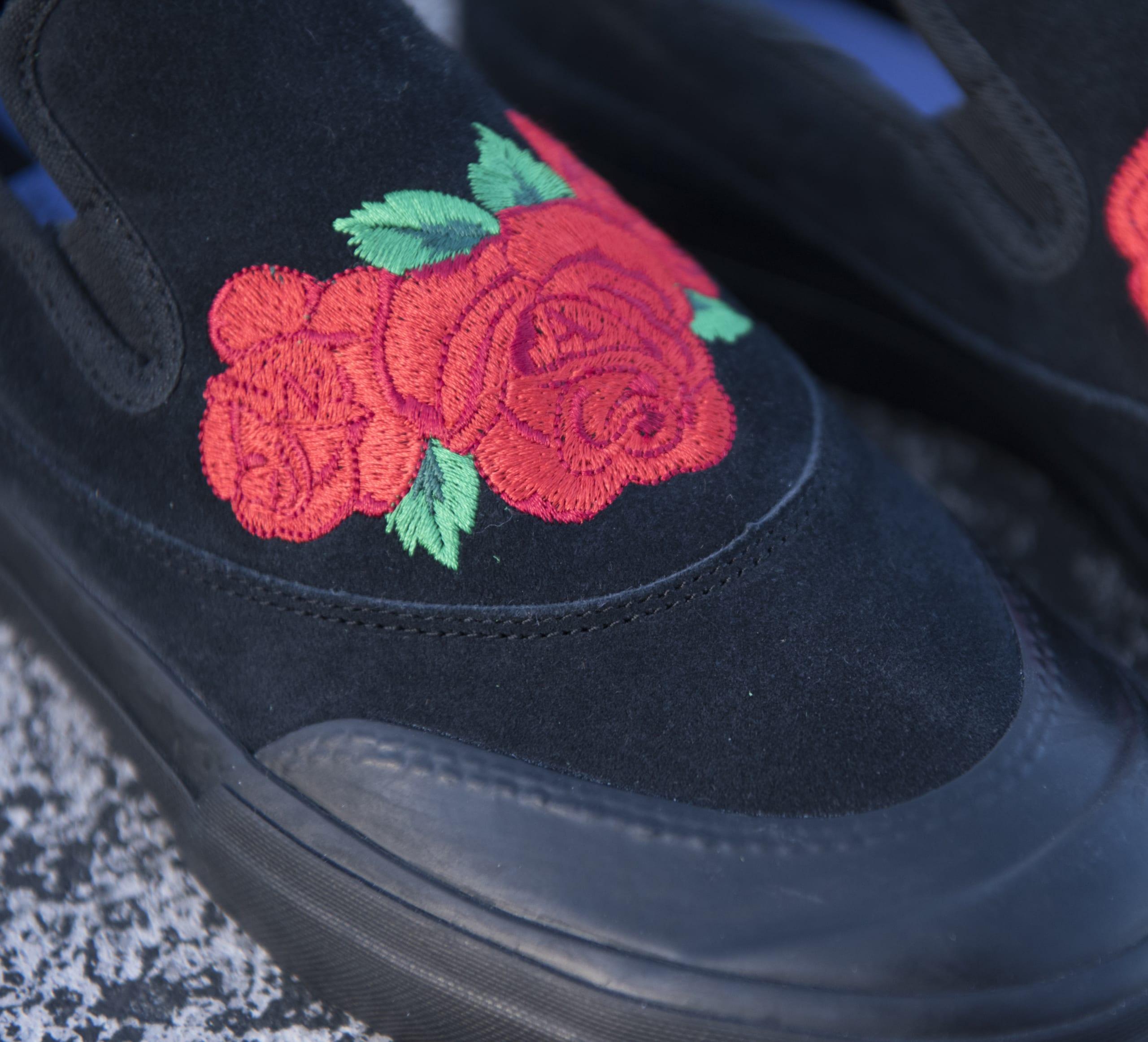 薔薇の刺繍のスリッポン! 某V系カリスマのコラボ? ではなく…