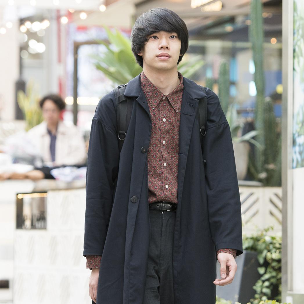 【SNAP JACK】古着の柄シャツを着こなすなら、あの人を参考にひと手間加えよう!宇野聖人くん・東海大学