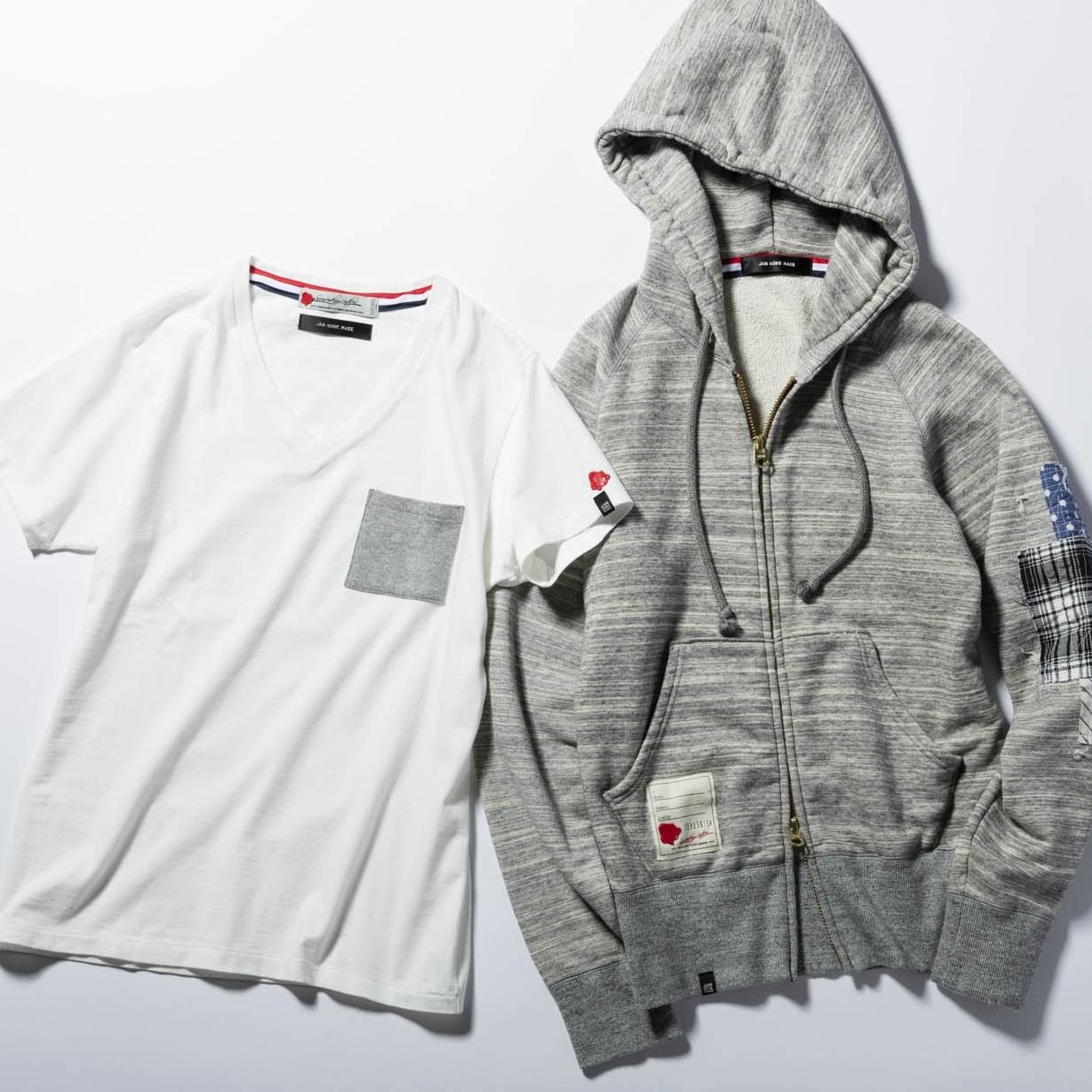 『メンズジョーカー』掲載商品!<br />コラボパーカ&Tシャツで春の定番スタイルを格上げ