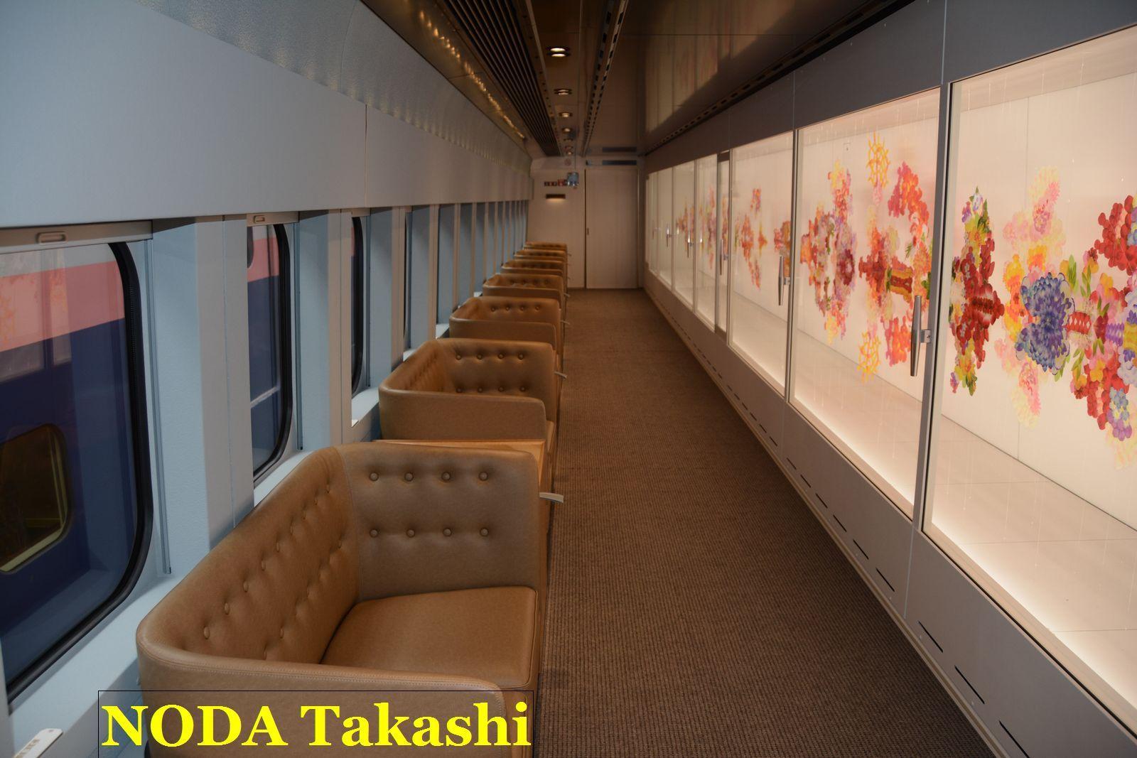 走る美術館「現美新幹線」に乗る
