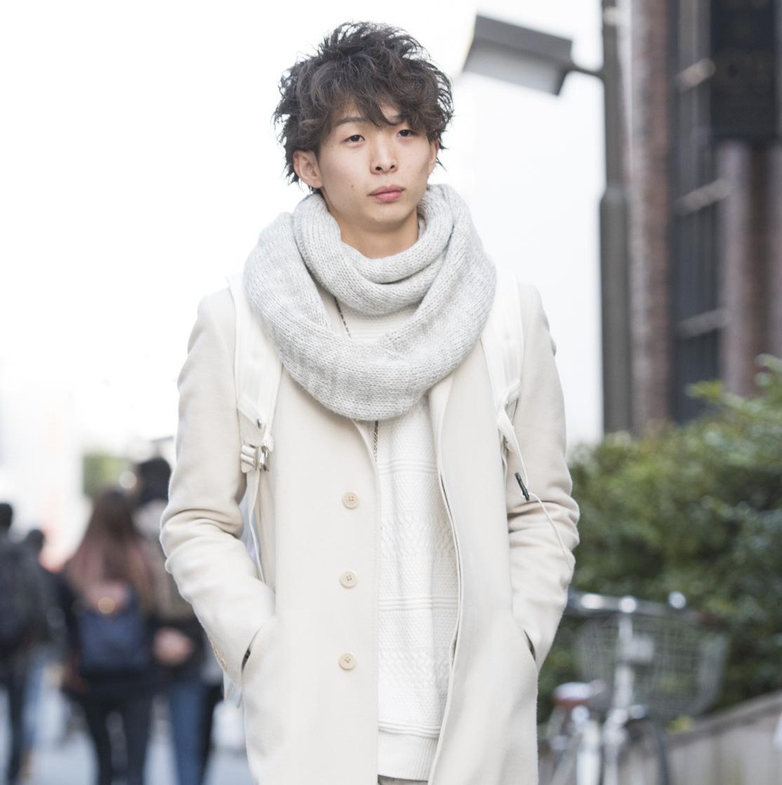 【SNAP JACK】冬のホワイトコーデのお手本に!!西帯野拓斗くん・飲食業