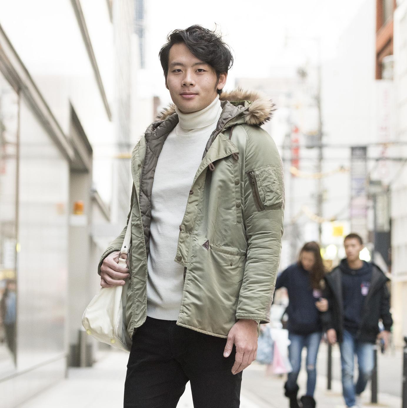 【SNAP JACK】<br />本格派アウターを使った、まさに冬のお手本女子モテコーデ!<br />鹿野耀平くん・大阪市立大学
