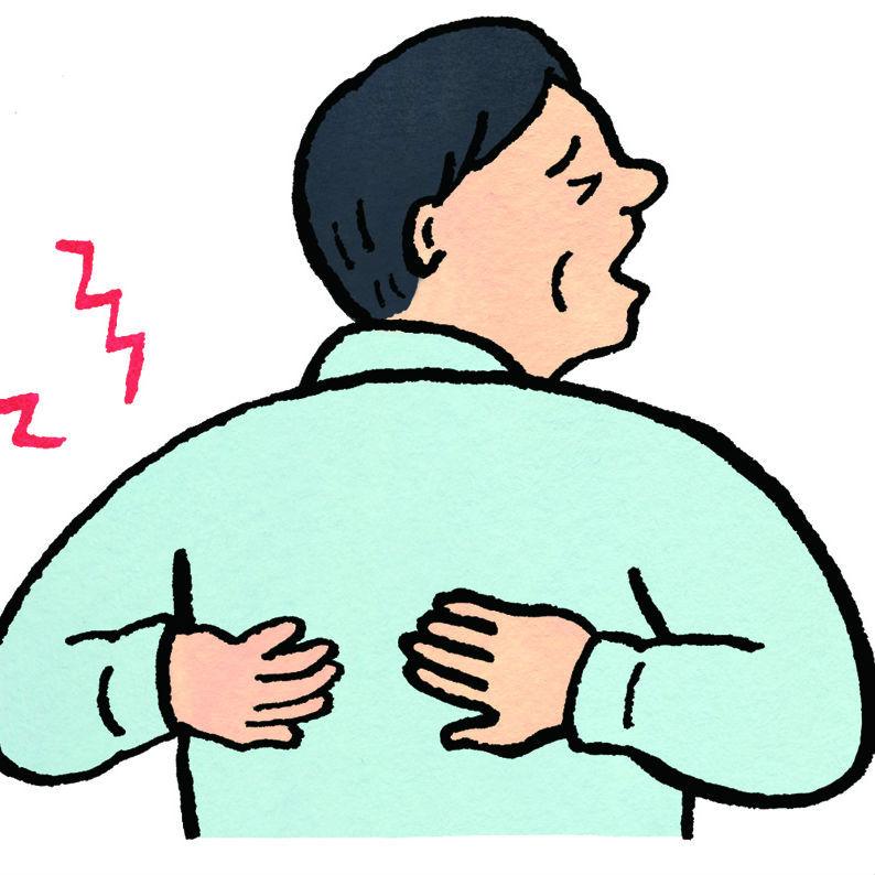 突然の背中の激痛は、腰痛じゃなく重大な病の危険性あり