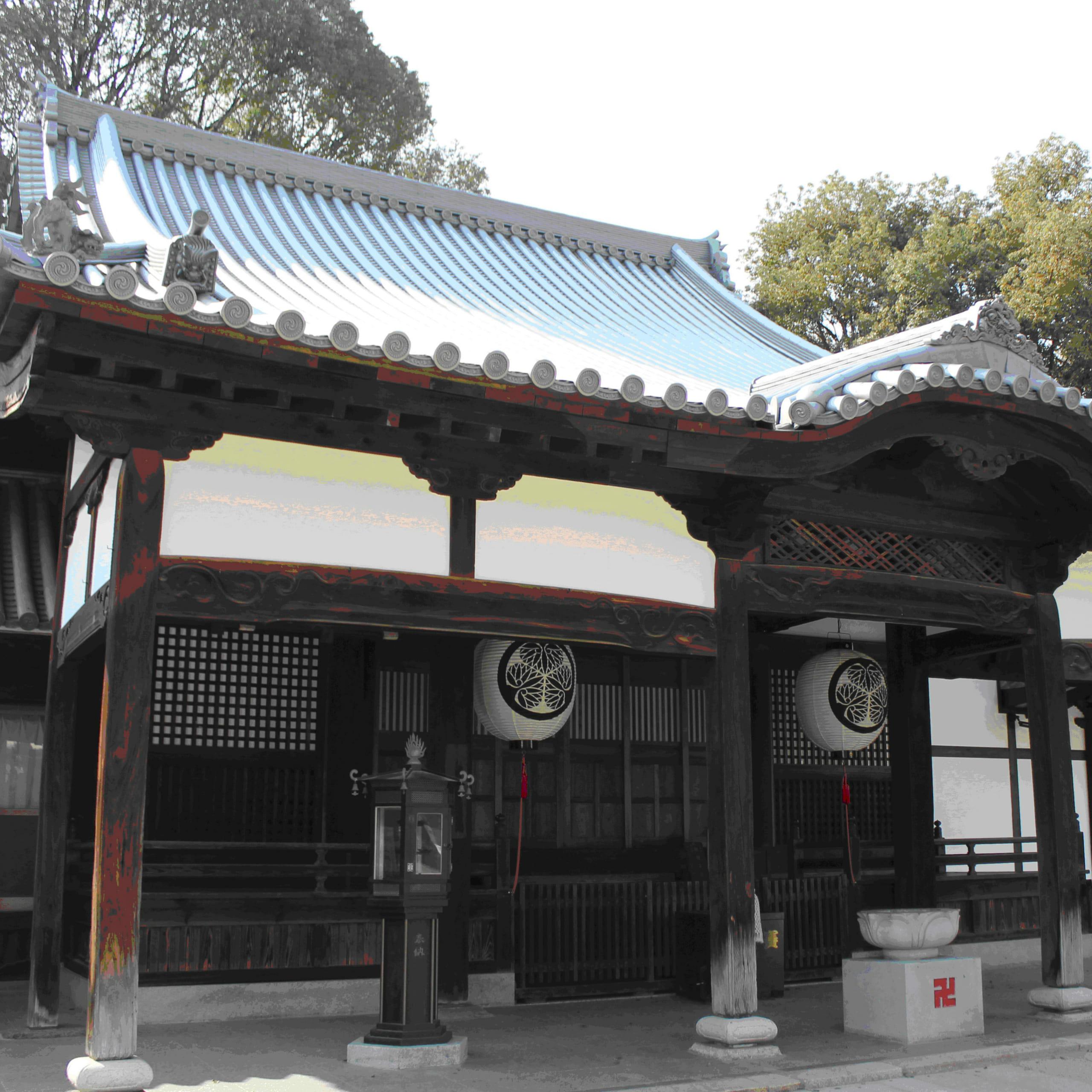 大坂夏の陣に由来する「血天井」を持つ寺
