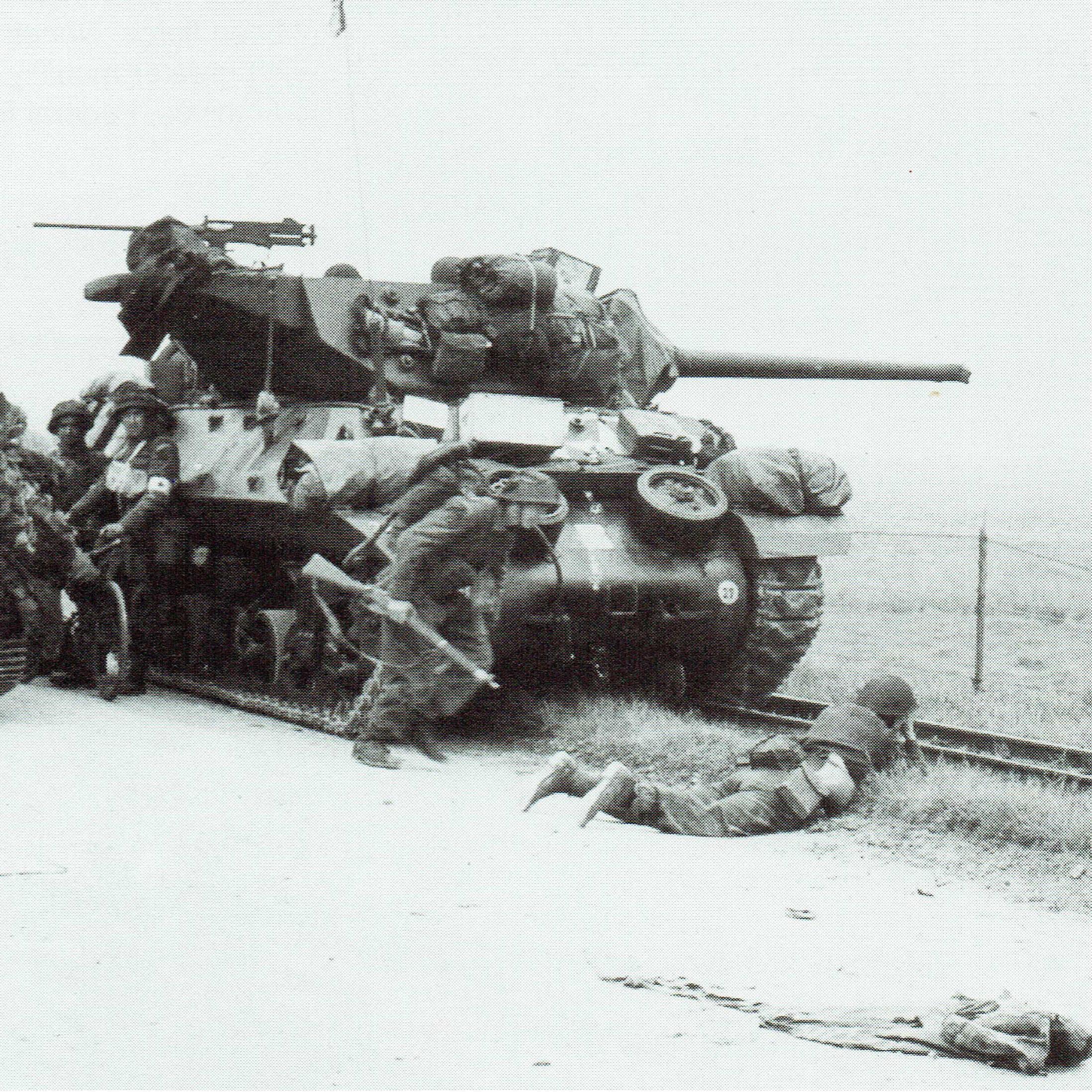 ノルマンディーの地で反撃に出るも、やむを得ず後退させられたドイツ装甲師団