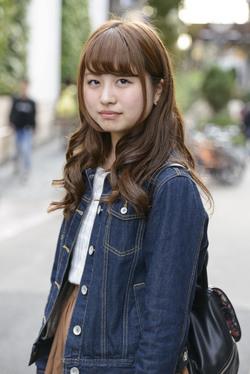 【女子SNAP】SJ美女図鑑<br />大きい瞳がキュートなデニムJKT少女♡<br />黒木南奈さん・立教大学