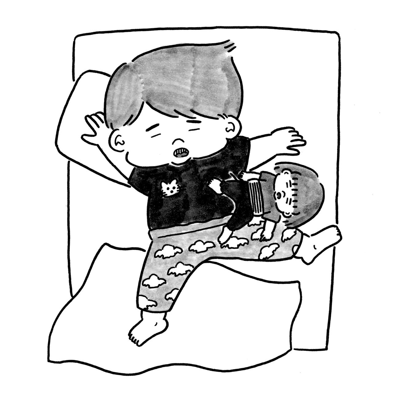 Twitter発4コマ漫画で話題! <br />育児に奮闘するお父さんの泣き笑いに共感の声集まる